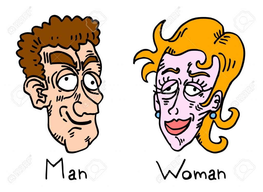11822593-Comic-draw-of-ugly-man-and-woman-Stock-Vector-ugly-face-cartoon