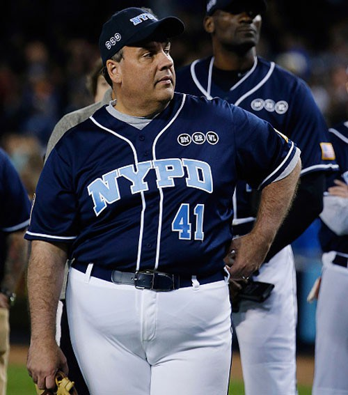 chris-christie-celebrity-softball-game-for-charity-at-yankee-stadium-june-4-2015